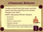 vclassroom behavior