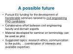 a possible future