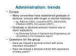 administration trends