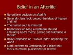 belief in an afterlife