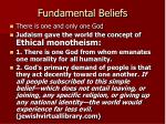 fundamental beliefs