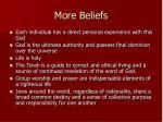 more beliefs