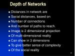 depth of networks