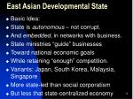 east asian developmental state