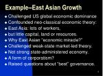 example east asian growth
