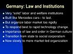 germany law and institutions