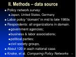 ii methods data source