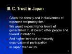 iii c trust in japan