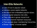 inter elite networks