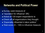 networks and political power