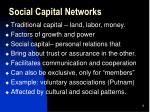 social capital networks