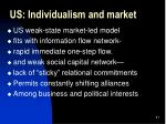 us individualism and market