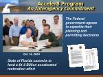 acceler8 program an interagency commitment