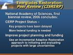 everglades restoration peer review cisrerp1