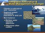 everglades restoration water management challenges