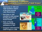 historical problems leading to construction of c sf project