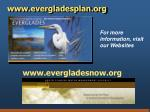 www evergladesplan org