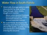 water flow in south florida