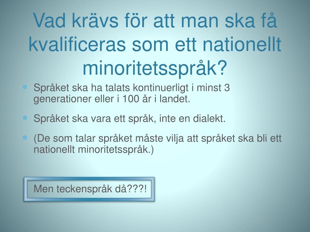 Ppt Minoritetssprak I Sverige Powerpoint Presentation Id