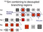 151 sm combining to decoupled branching regions