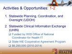 activities opportunities 1 2