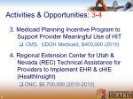 activities opportunities 3 4