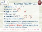 extended mssm u 1