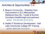 activities opportunities 5 6