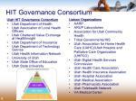 hit governance consortium