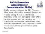 facs formative assessment of communication skills
