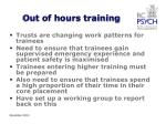 out of hours training