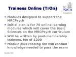 trainees online tron