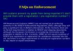 faqs on enforcement