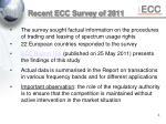 recent ecc survey of 2011