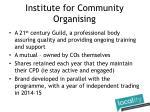 institute for community organising