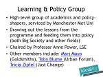 learning policy group