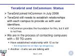 teragrid and incommon status