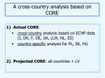 a cross country analysis based on core