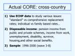 actual core cross country