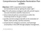 comprehensive everglades restoration plan cerp