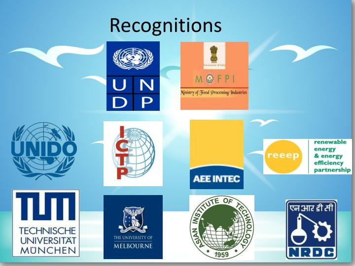 recognitions n.
