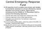 central emergency response fund