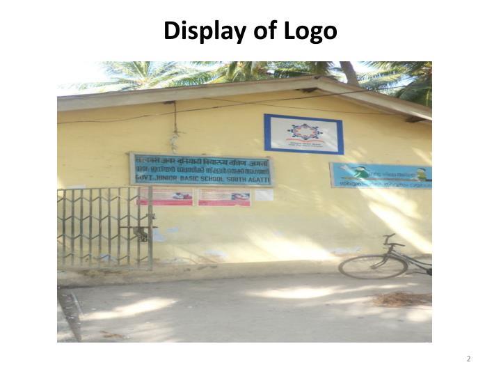 Display of logo