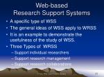 web based research support systems