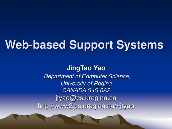 web based support systems n.
