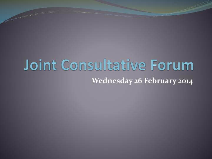 joint consultative forum n.