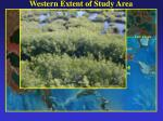 western extent of study area