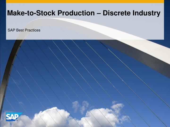 make to stock production discrete industry n.
