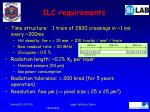 ilc requirements
