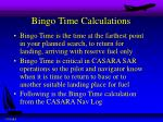 bingo time calculations